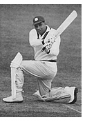 Clyde Walcott, one of the West Indies' greats.